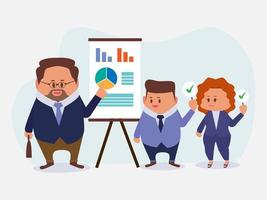 Group of Businessperson team in meeting room vector