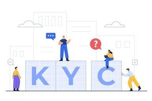 KYC mean Know Your Customer, Which is the process of authentication vector