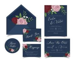 wedding invite card 4 vector