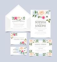 wedding invite card 1 vector
