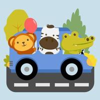 animal cartoon set vector