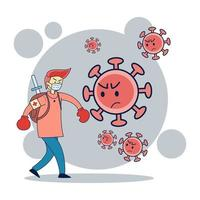People wear masks to prevent infection. vector