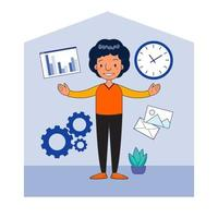 online meeting work from home vector