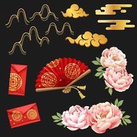 Asian Element set vector