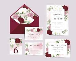 wedding invite card vector