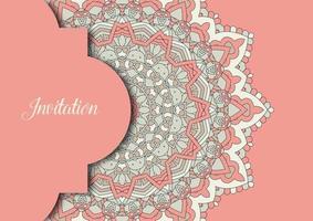 elegant background with decorative mandala design vector