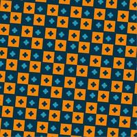 SQUARES PATTERN, ABSTRACT CHECKERS AND PLUS PATTERN vector