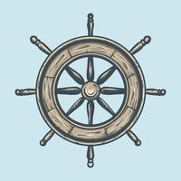 símbolos marinos vintage vector