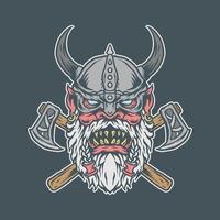 Angry Viking Old vector