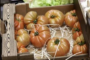 Fresh tomatoes fruit shop photo
