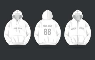 sports hoodie mockup vector