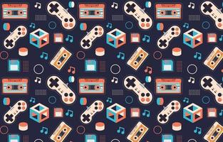 90's pattern background vector