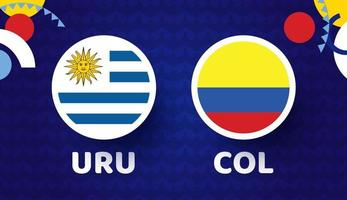 Uruguay vs Colombia match vector illustration Football 2021 championship