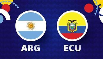Argentina vs Ecuador match vector illustration Football 2021 championship