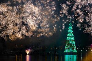 Inauguration of the christmas tree of the rodrigo de freitas lagoon - Rio de Janeiro photo