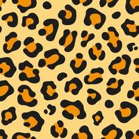 Leopard skin seamless background texture pattern vector