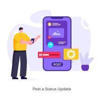 publicar una actualización de estado vector
