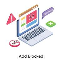 Website  Blocked Advertisement vector