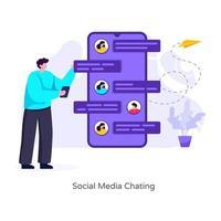 Social Media Chatting vector