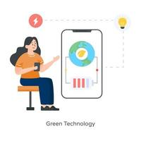 Green Technology and Energy vector