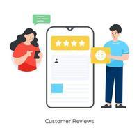 opiniones y valoraciones de los clientes vector