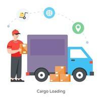 Cargo Loading Truck vector