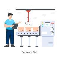 Conveyor Belt and Package vector