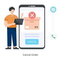 cancelar pedido y envío vector