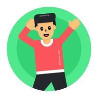 Dancing Guy Pose vector