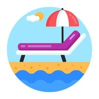 Beach Bed and lounger vector