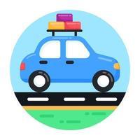 Car Travel 0n Road vector