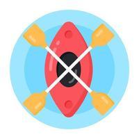 canoa y rafting vector