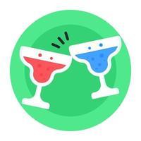 Cheers wine glasses vector