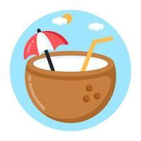 Coconut Drink and Juice vector
