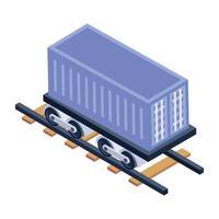 Railway Car Box vector