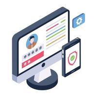 Online Account Security vector