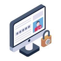 Online Account Password vector