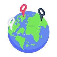 posición de seguimiento geográfico vector