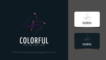 Colorful Butterfly Logo with Dotted Style. Plush Butterfly Illustration or Symbol vector
