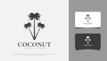 Three Coconut Trees Logo Design, Suitable for Resort, Travel or Tourism Industry vector