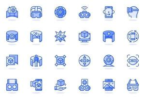 Virtual reality web flat line icon vector