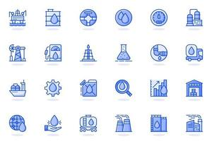 Industry web flat line icon vector
