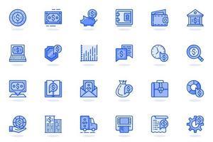 Financial item web flat line icon vector