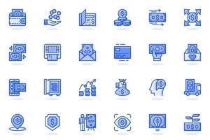 Money web flat line icon vector