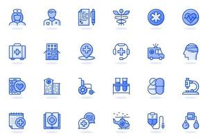 Medical services web flat line icon vector