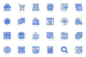 Shopping web flat line icon vector