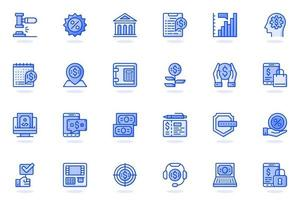Online banking web flat line icon vector