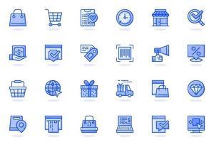E-commerce web flat line icon vector