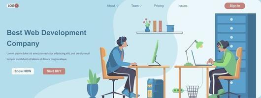 Best Web Development Company banner concept vector
