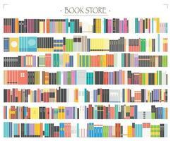 A bookshelf full of books. vector